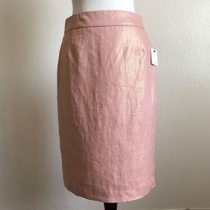 NWT Calvin Klein Shimmery Rose Gold Pencil Skirt